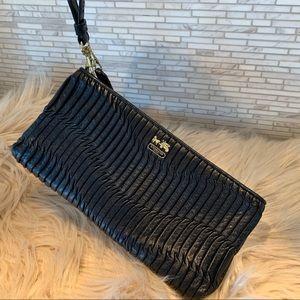 Coach scrunchedleather pouch purse